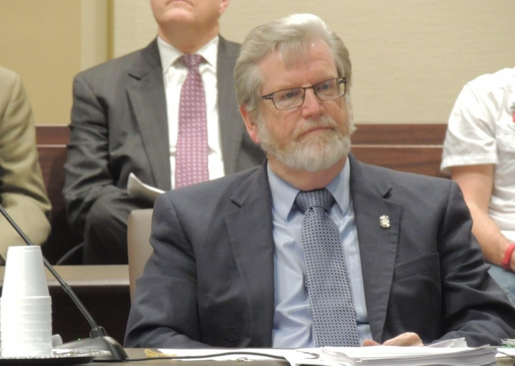 Sen. Roger Thompson's SB 170 was approved by the Senate Appropriations Committee Wednesday.  The measure repeals a trigger for another state income tax reduction.  Thompson, R-Okemah, is chair of the Senate Appropriations Subcommittee on Finance.